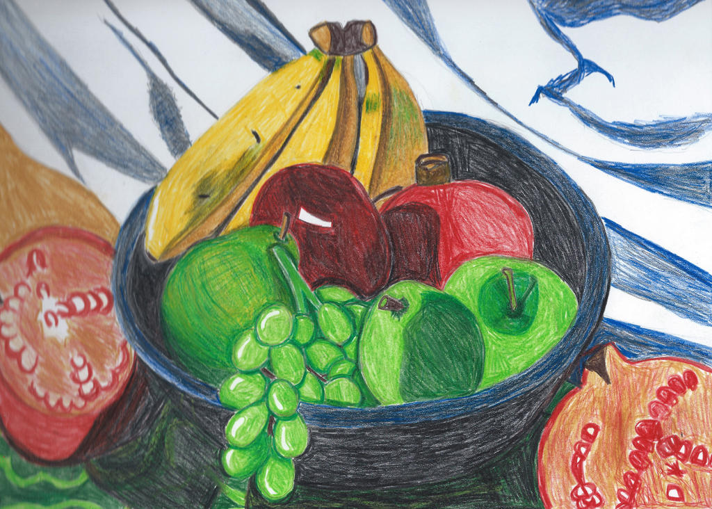 Basic Fruit Bowl Still Life by BabyFaceCrossbones