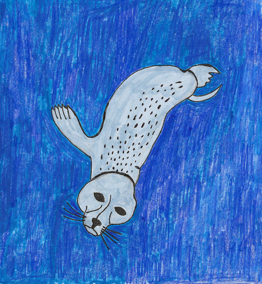 Seal Diving by JessieRamoneGirl