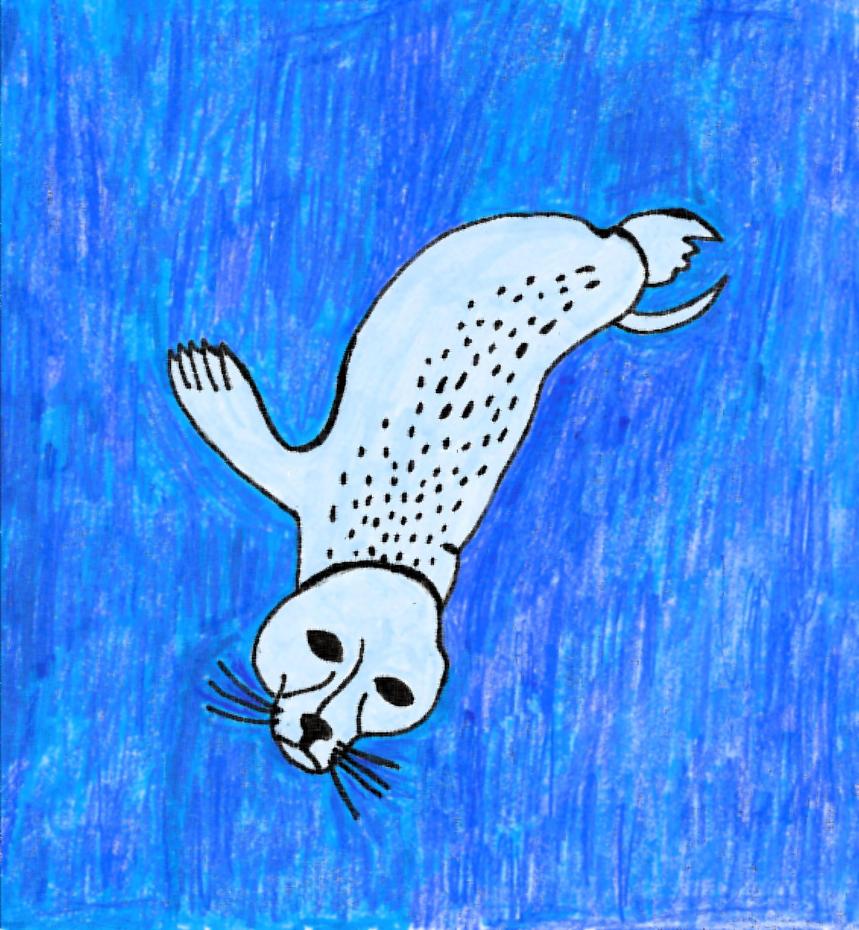 Seal Diving Water Paper Filter by JessieRamoneGirl