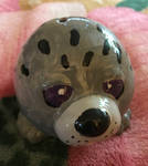 Ceramic Painted Harbor Seal front by LeiaIceCommander