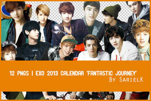 [PNG] EXO 2013 Calendar by sarielk