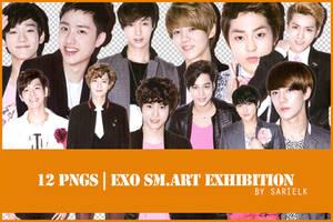 [PNG] EXO SMART Exhibition render by sarielk