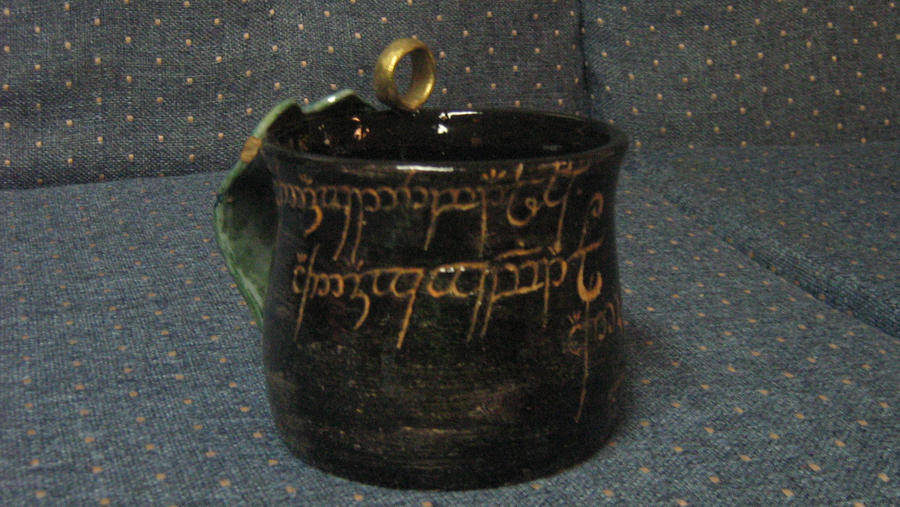 Lord of the rings mug 1 by brynerosehime on deviantart