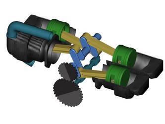 Piston Engine by 3dben