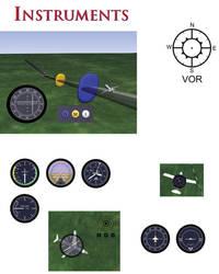 Aviation Instruments by 3dben