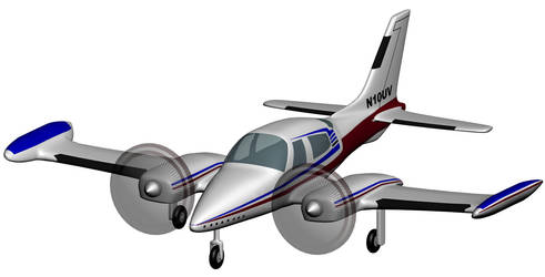 Cessna 310 by 3dben