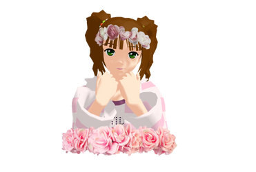 . : Miki flower crown [New ID Picture] : . by AngelBunnyMiki