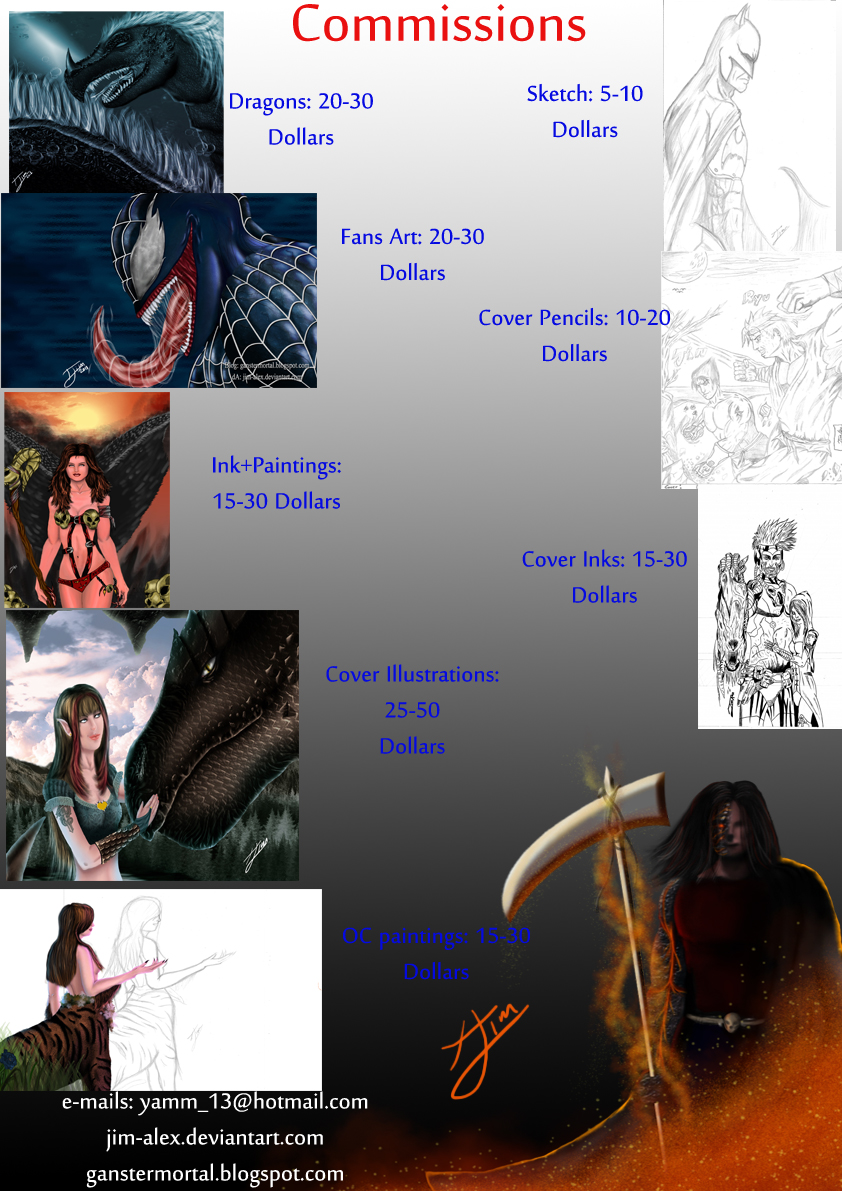 Commissions price