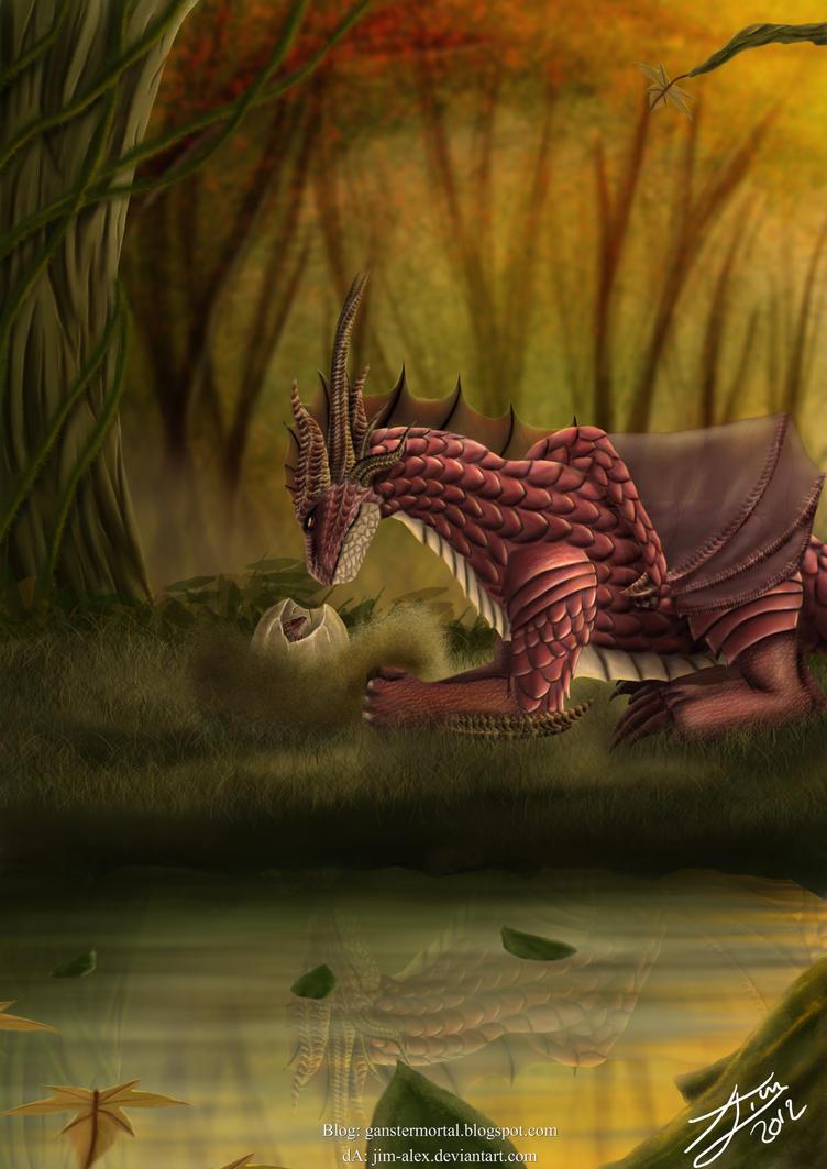 Dragon Autumn , Born by jim-alex