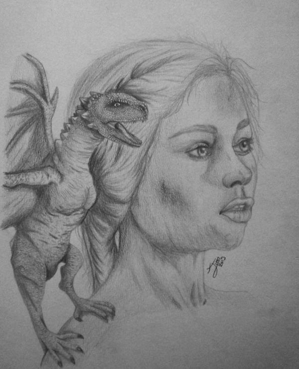 Daenerys portrait pencil by jim-alex