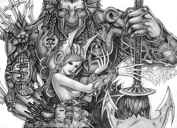 Inorganic and organic demon by jiachengwu
