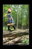 :Luna Walking on a Log: by Karmada