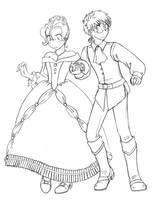 -Awkward Couple- by Karmada