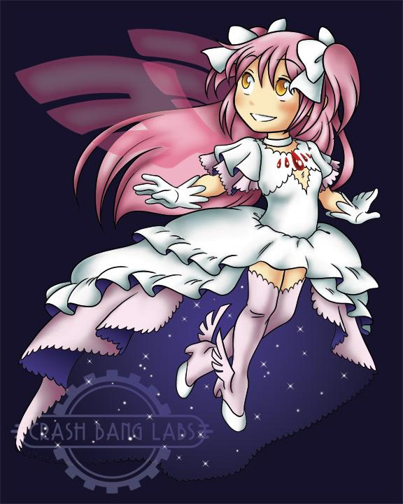 Chibi - Goddess Madoka, Colored