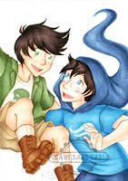Commission - Jake and Windy John by Karmada