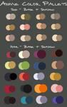 anime color pallets