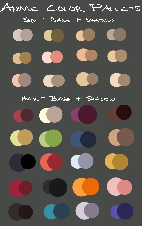 Of Hair Color Palette Anime | dagpress.com