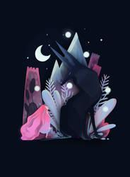 Follow Me - Parallax Illustration