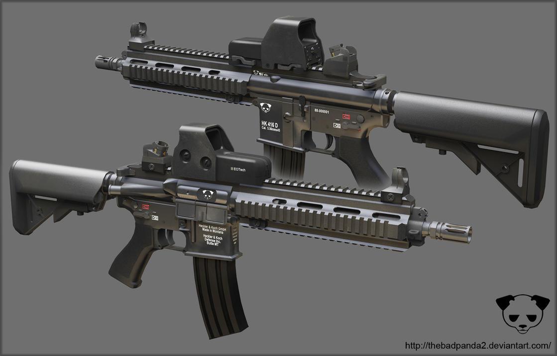 HK416 by TheBadPanda2