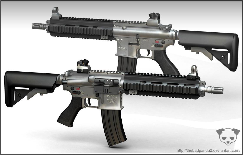 HK416 2 by TheBadPanda2