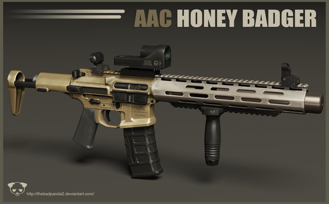 AAC Honey Badger Rifle 2 by TheBadPanda2
