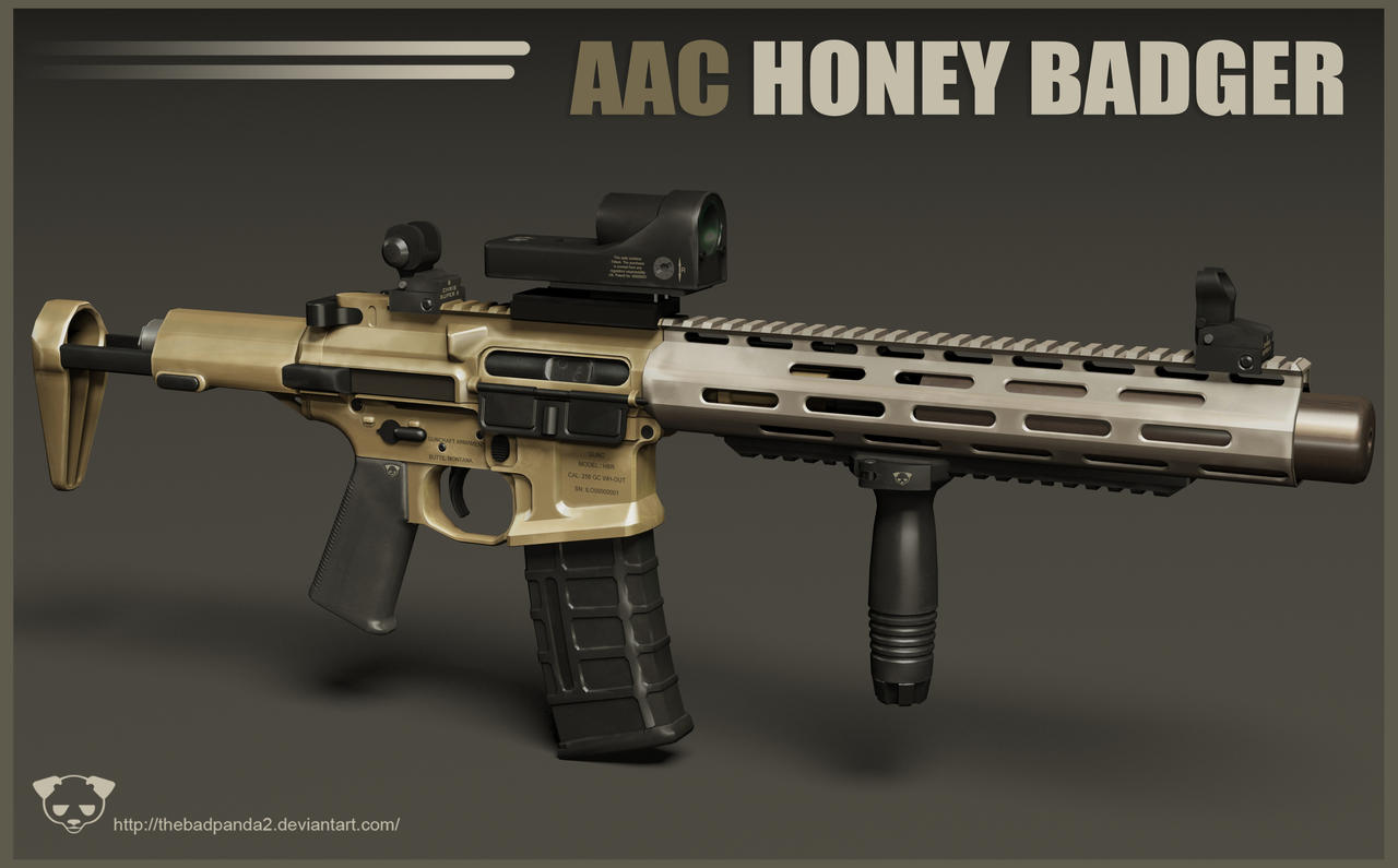 AAC Honey Badger Rifle 2 by TheBadPanda2