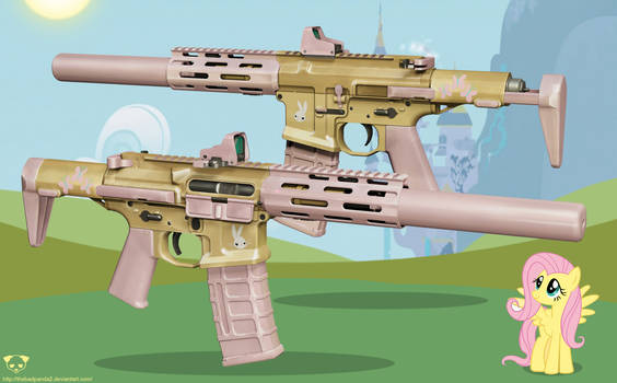 AAC Honey Badger Rifle - Fluttershy Edition
