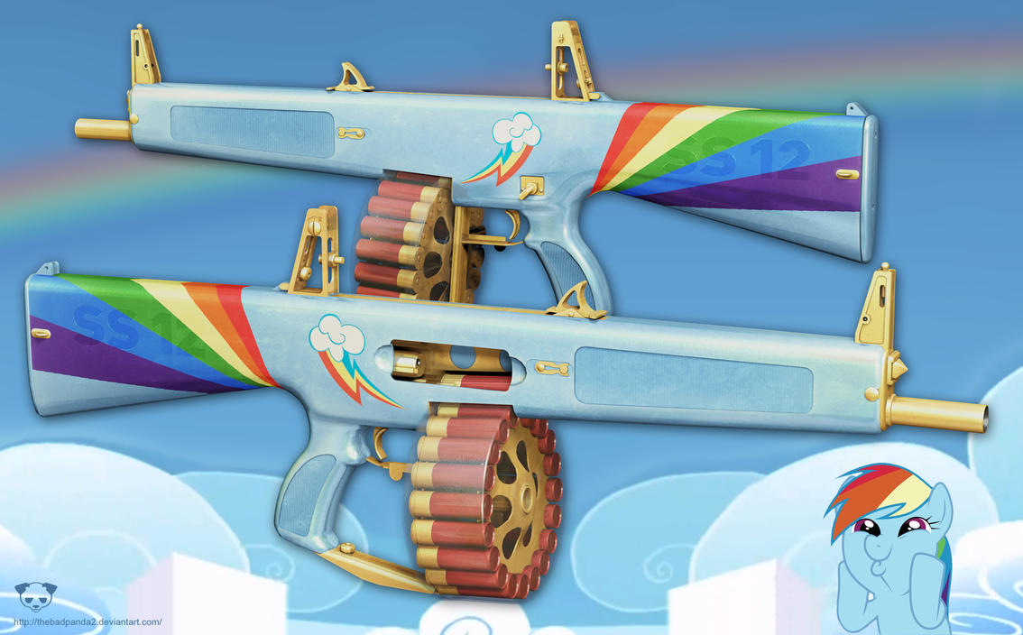 AA-12 Shotgun - Rainbow Dash Edition by TheBadPanda2