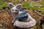 Poseable grey Foxhalfdragon
