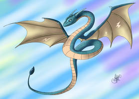 Scaly Blue Dragon by Rapiddash189