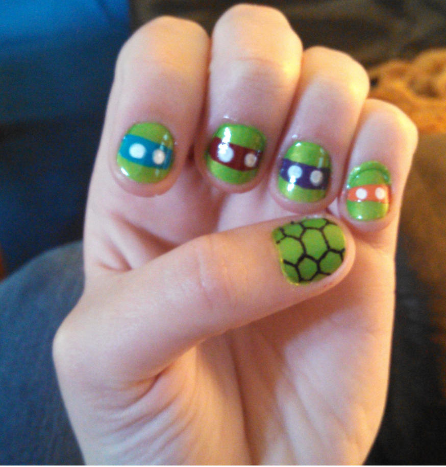 TMNT Nails by Mikeylover15 on DeviantArt