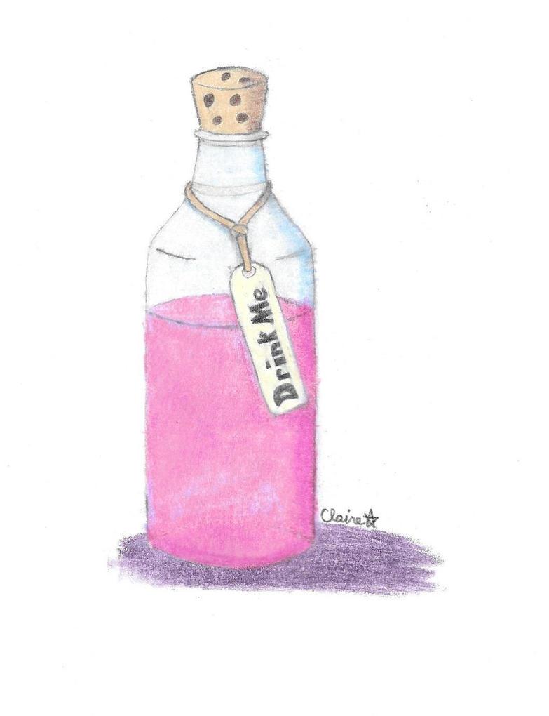 Alice Drink Me Bottle Pendant with Key - Pinterest