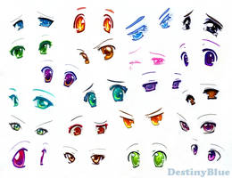 Anime Eyes - Copic Markers