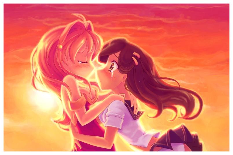 Yuri Kiss by DestinyBlue