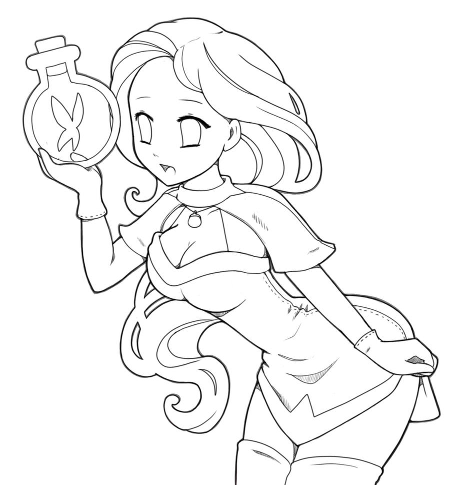 Line Art For Coloring : Magic lineart by destinyblue on deviantart