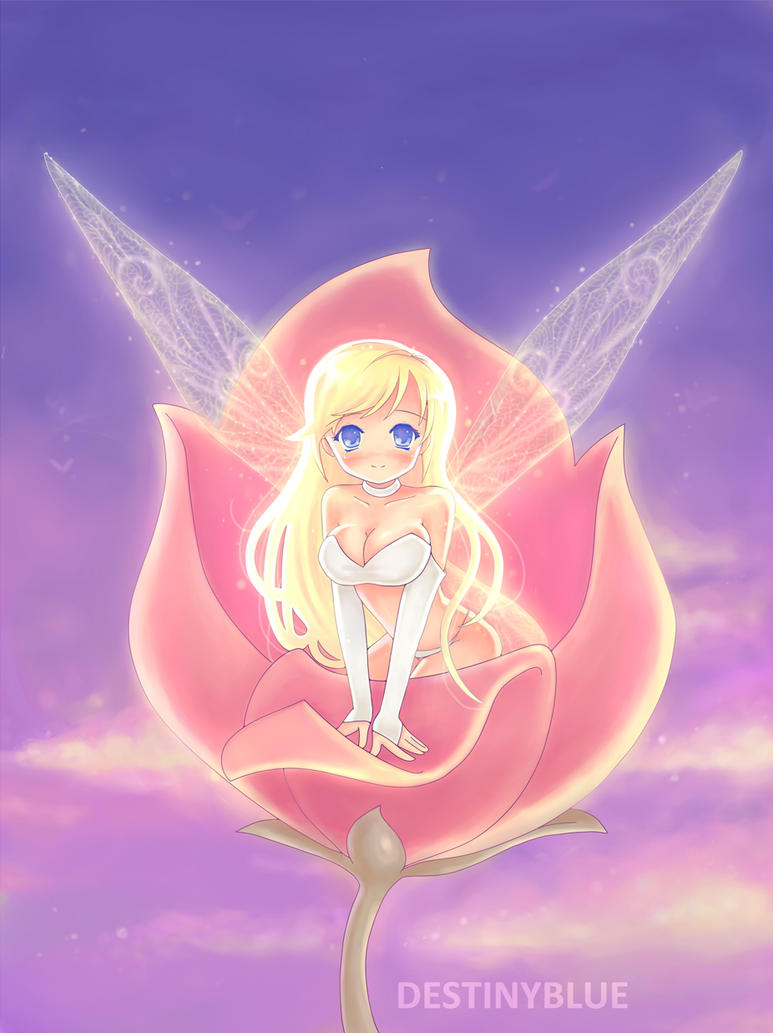 Rose Fairy by DestinyBlue on DeviantArt