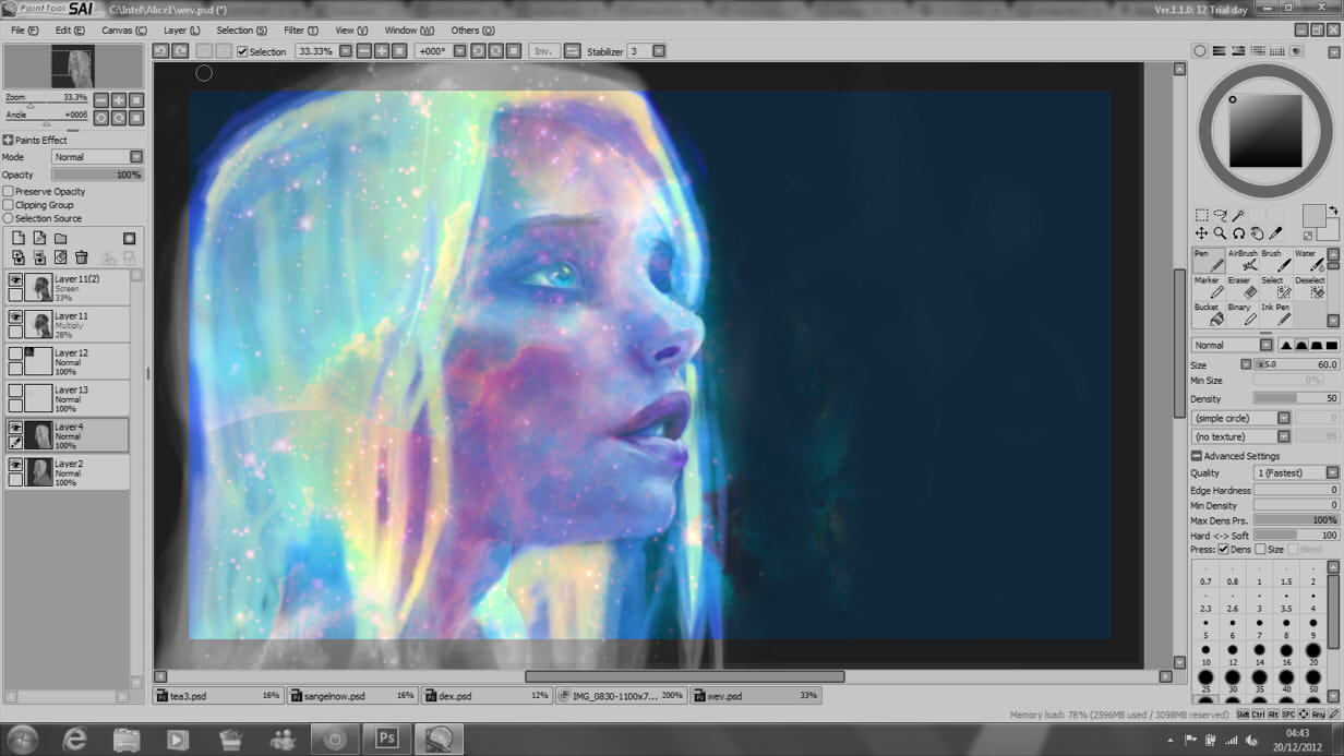 Head full of Space -WIP- by DestinyBlue