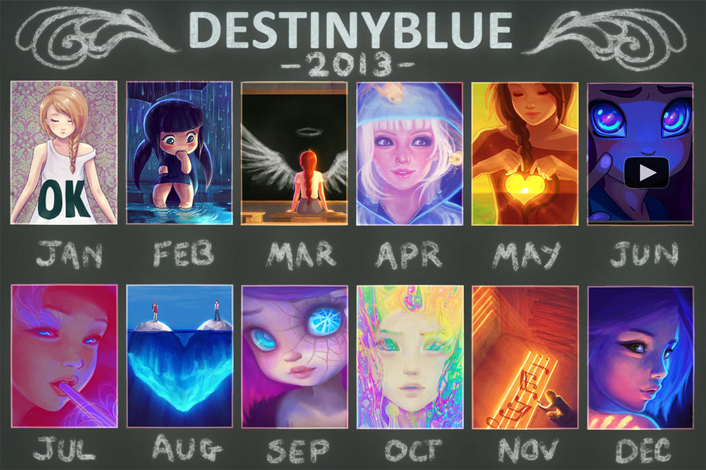 In 2013 DestinyBlue drew... by DestinyBlue