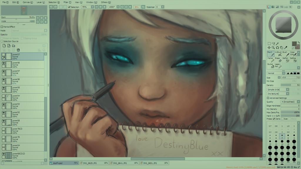 Don't watch me Draw (WIP) by DestinyBlue