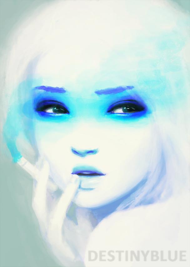Smokey eyes by destinyblue on deviantart - Smokey eyes blau ...