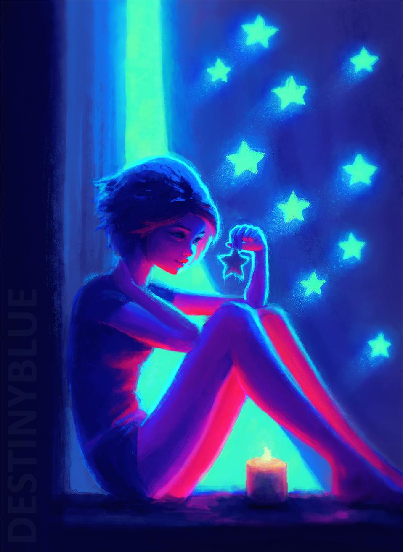 Night maker by destinyblue on deviantart for Blacklight wall mural