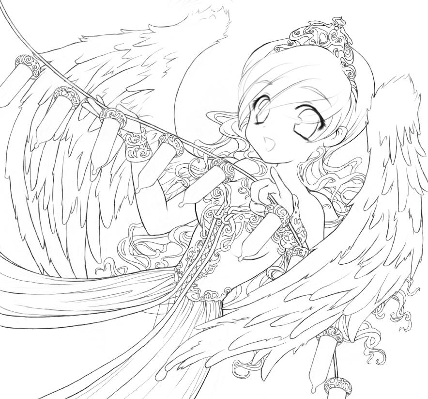 Line Art Group : Decorating angel lineart by destinyblue on deviantart