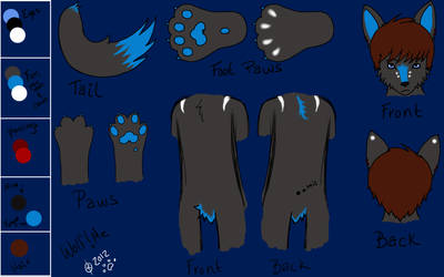 Electro Wolf Reference Sheet by xMoonlight-Wolfx