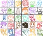 30 Characters Meme