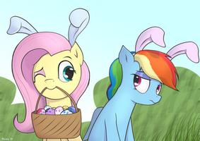 Easter Ponies by SarmaTeppou