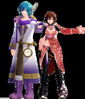 [777 watcher gift] Blazing Meiko + Violet Kaito dl by maydayfireball