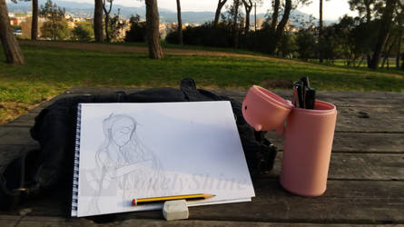 Outside Sketching by LonelyShine