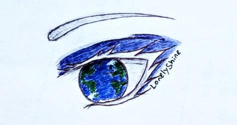 Earth Gaze by LonelyShine
