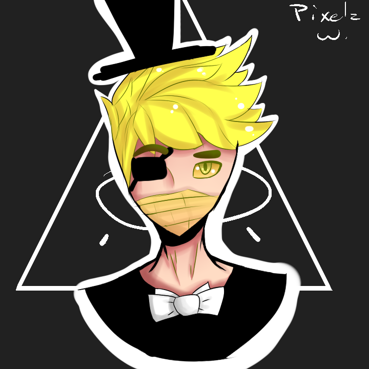 Bill Cipher OMG by PixelzWorksYT