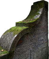 Mossy Wall PNG by simfonic